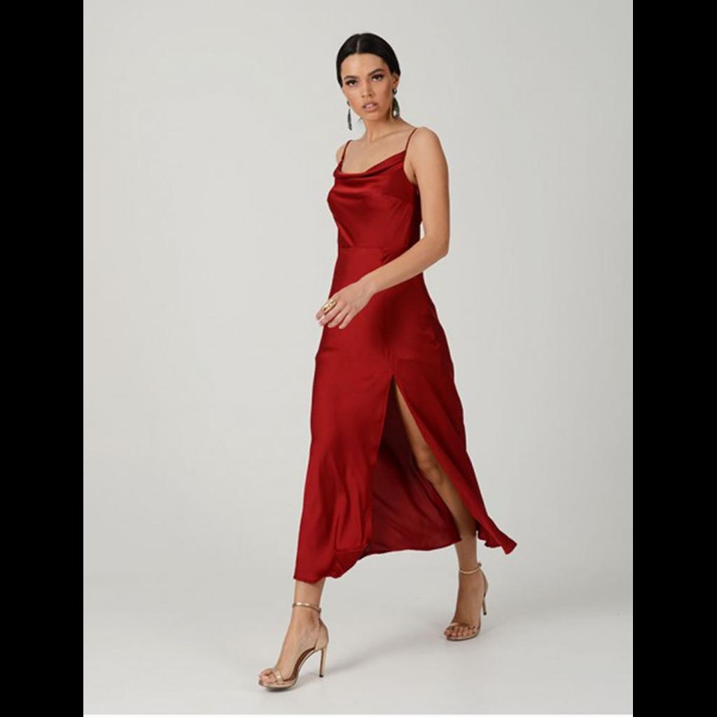 ce925af5fceb Σατέν midi φόρεμα NASH by Natasha Avloniti. Θα το βρεις εδώ