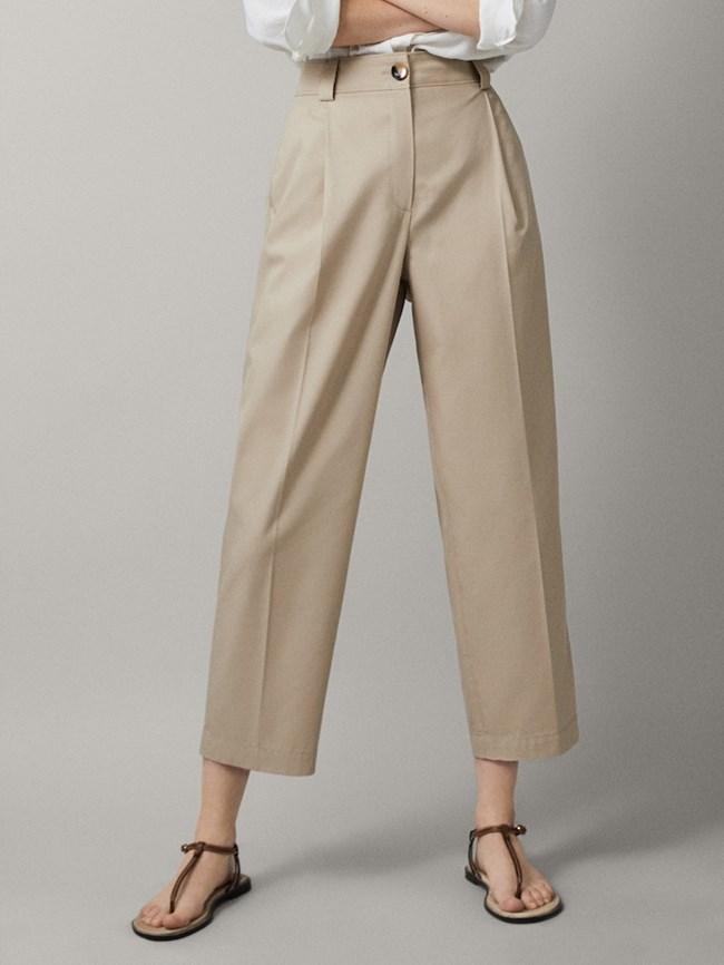 0f0057f7da9b Cropped παντελόνι chino Μassimo Dutti 34.95 € massimodutti.com