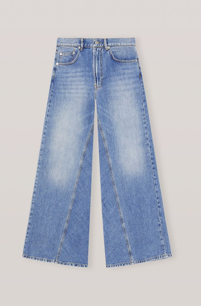 wide jeans, GANNI