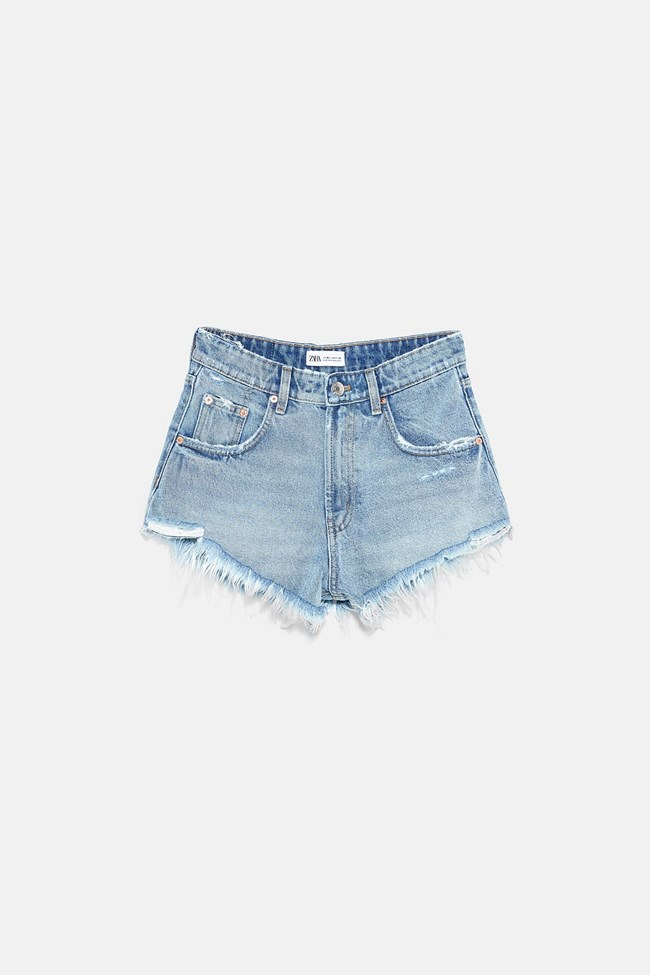 ψηλόμεσο denim shorts, ZARA