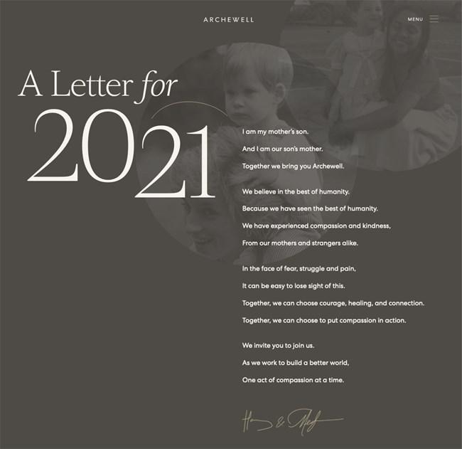 Meghan Markle-Πρίγκιπας Harry   H επιστολή τους προς το 2021