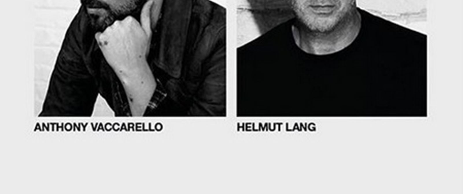 Helmut Lang x Anthony Vaccarello | Μία συνεργασία που οδήγησε σε έργα τέχνης