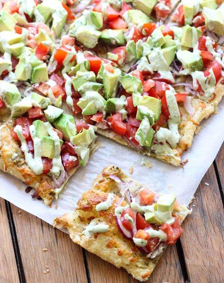 Αποτέλεσμα εικόνας για πιτσα με αβοκάντο