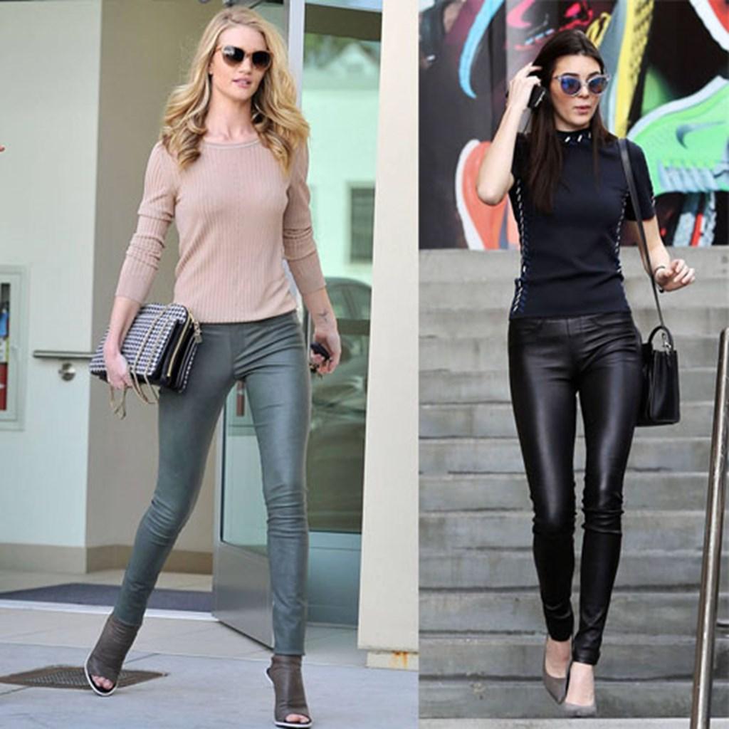 ef65d98546da Δερμάτινο παντελόνι  Πώς το φορούν οι celebrities